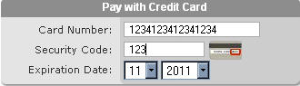 Credit Card Exemple